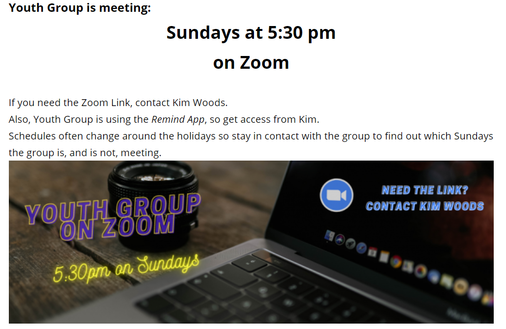 youth group zoom