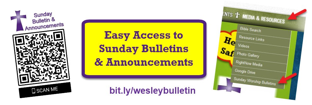 Easy Access to Sunday Bulletins