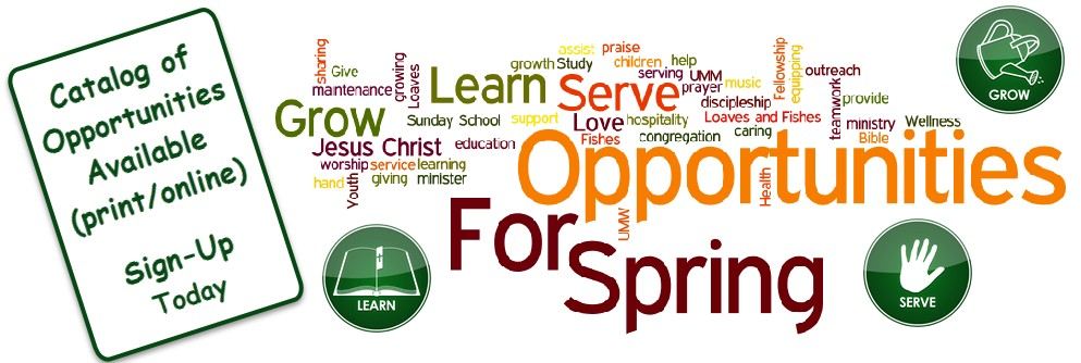 Learn-Grow-Serve Opportunities for Spring